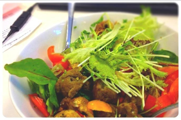 Beef Mixed Leaf Salad