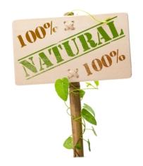 green natural and bio sign