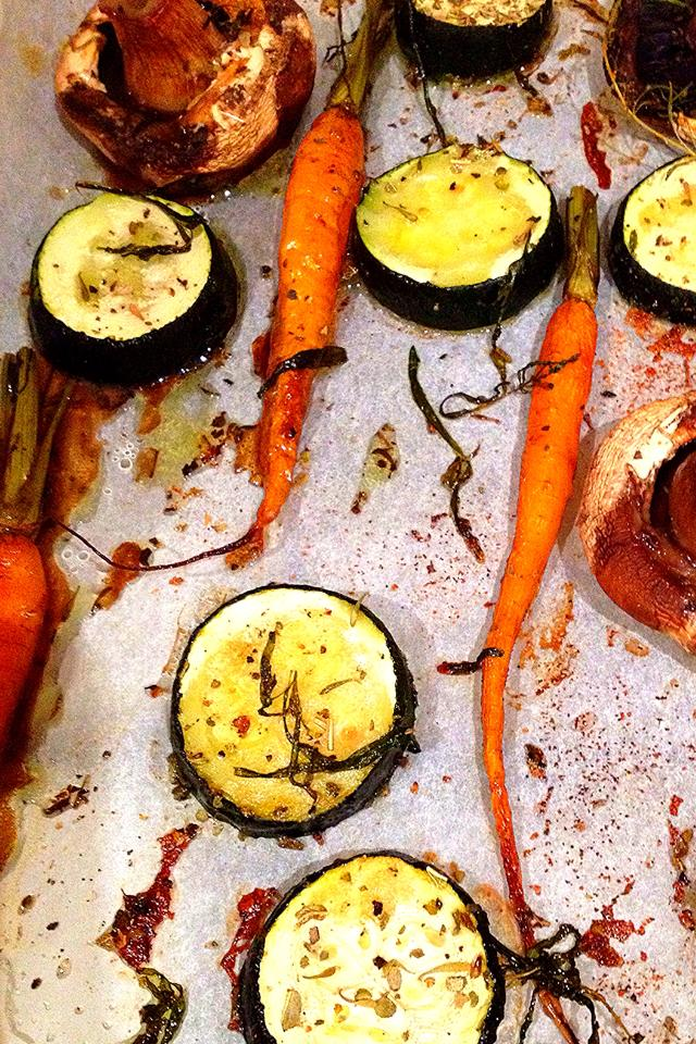 dutch carrots zucchini mushrooms