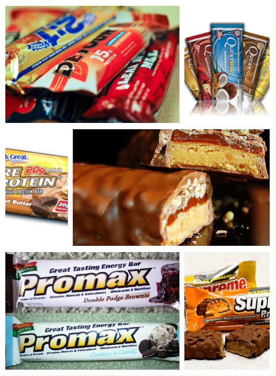 protein bar collage