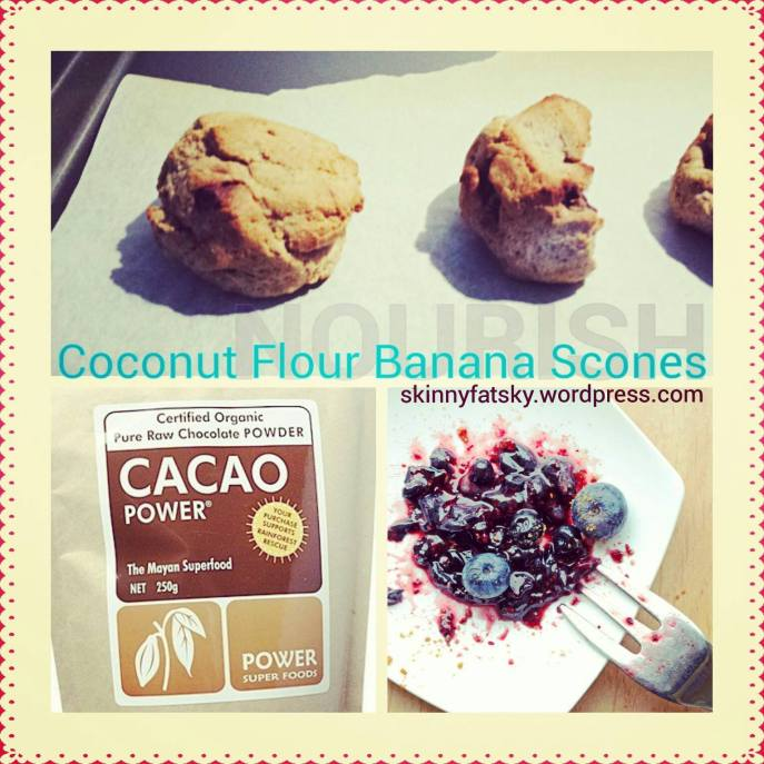 coconut flour banana bread scones