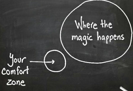 magic push outside your comfort zone fitspiration