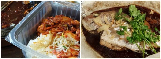 iifym korean chicken chinese steam fish